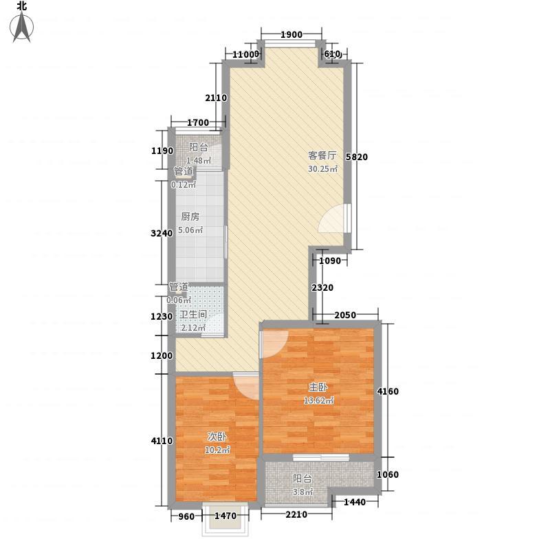 华盛格林丽景86.00㎡户型2室