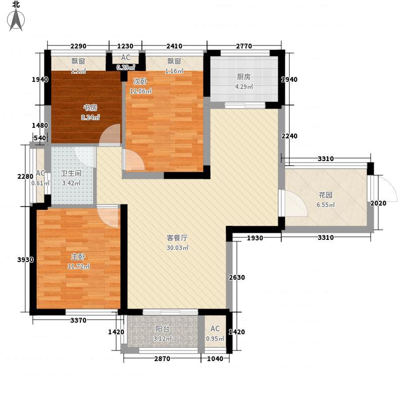无锡滨湖万达广场118.00㎡无锡滨湖万达广场户型图B13室2厅1卫户型3室2厅1卫