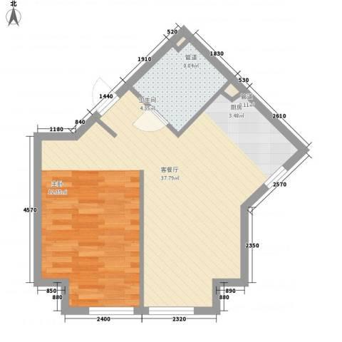 宏都筑景1厅1卫0厨59.00㎡户型图