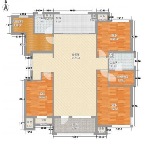 丽景秀苑3室1厅2卫1厨150.00㎡户型图