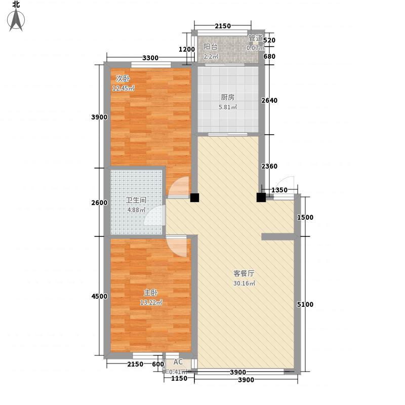 巴塞罗那・皇家特区89.66㎡巴塞罗那・皇家特区户型图D-12室2厅1卫户型2室2厅1卫