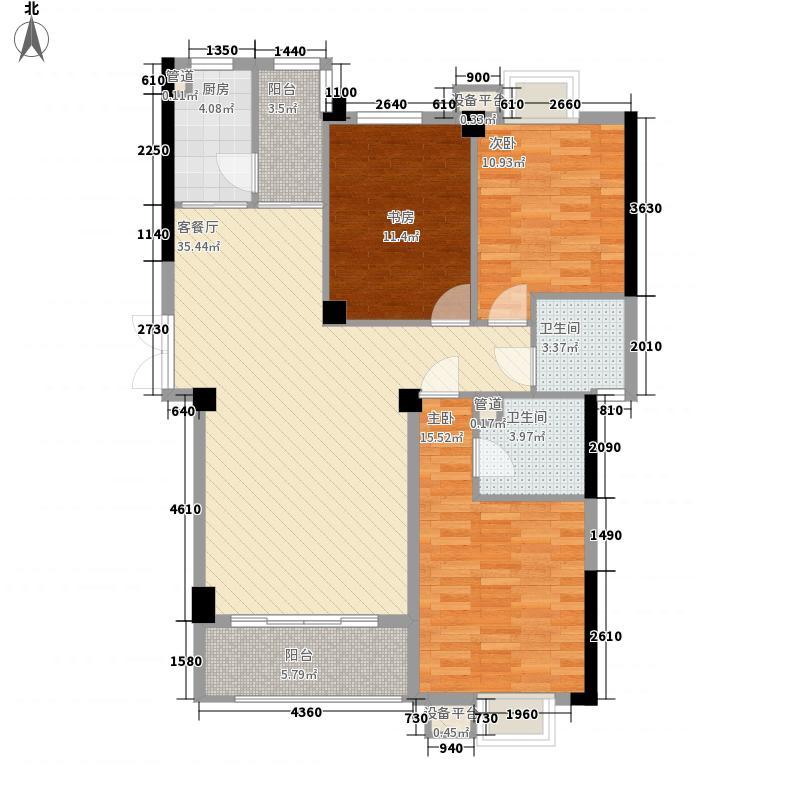 华阳九珑湾105.00㎡华阳九珑湾户型图C户型3室2厅1卫1厨户型3室2厅1卫1厨