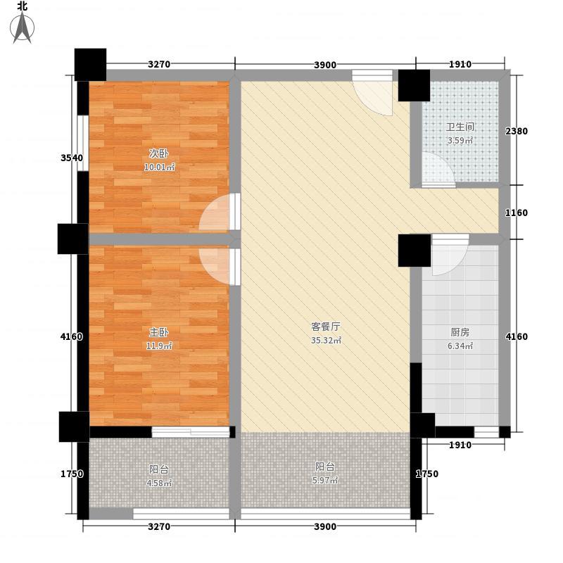 现代艺术家103.19㎡103.19户型2室2厅1卫1厨