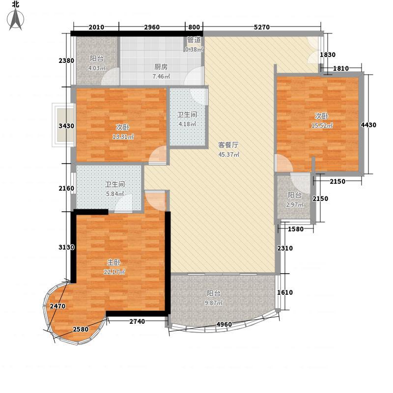 盛世凯旋宫179.51㎡B8户型3室2厅2卫1厨