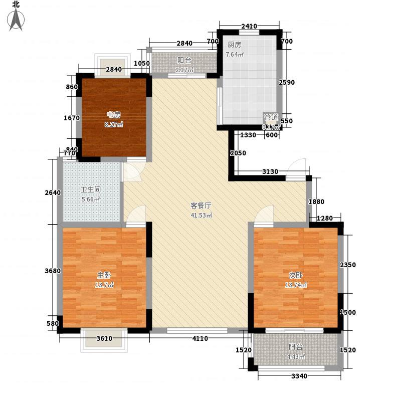 荷花苑138.00㎡荷花苑户型图F3室2厅1卫1厨户型3室2厅1卫1厨