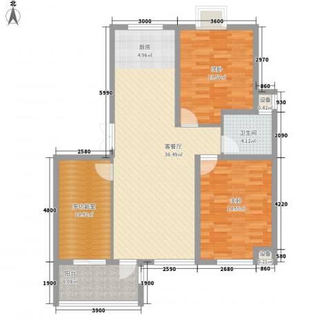 长江国际花园2室1厅1卫0厨105.00㎡户型图