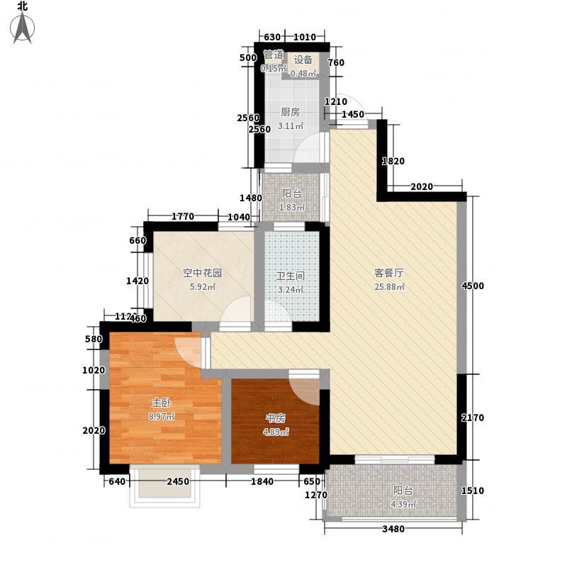 通和易居同辉87.48㎡通和易居同辉户型图摩登豪庭4#楼87.48平户型2室2厅1卫1厨户型2室2厅1卫1厨
