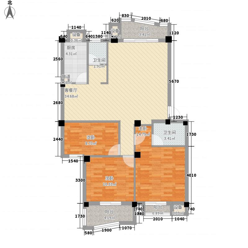 滨江丽景三期美丽园126.87㎡滨江丽景三期美丽园户型图3室2厅2卫户型10室