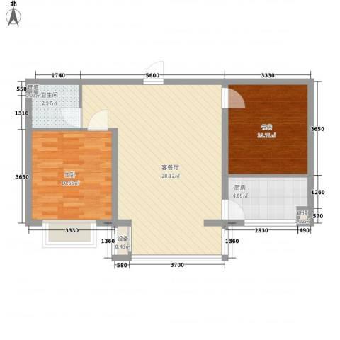 宽城2室1厅1卫1厨71.00㎡户型图