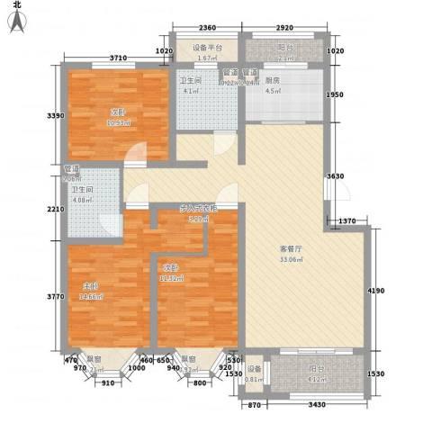 宽城3室1厅2卫1厨113.00㎡户型图