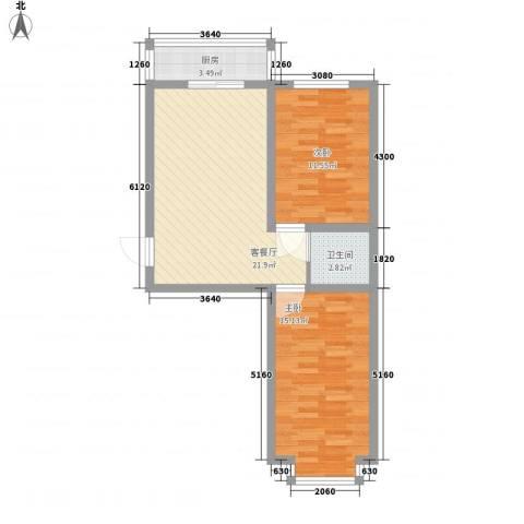 宽城2室1厅1卫1厨79.00㎡户型图