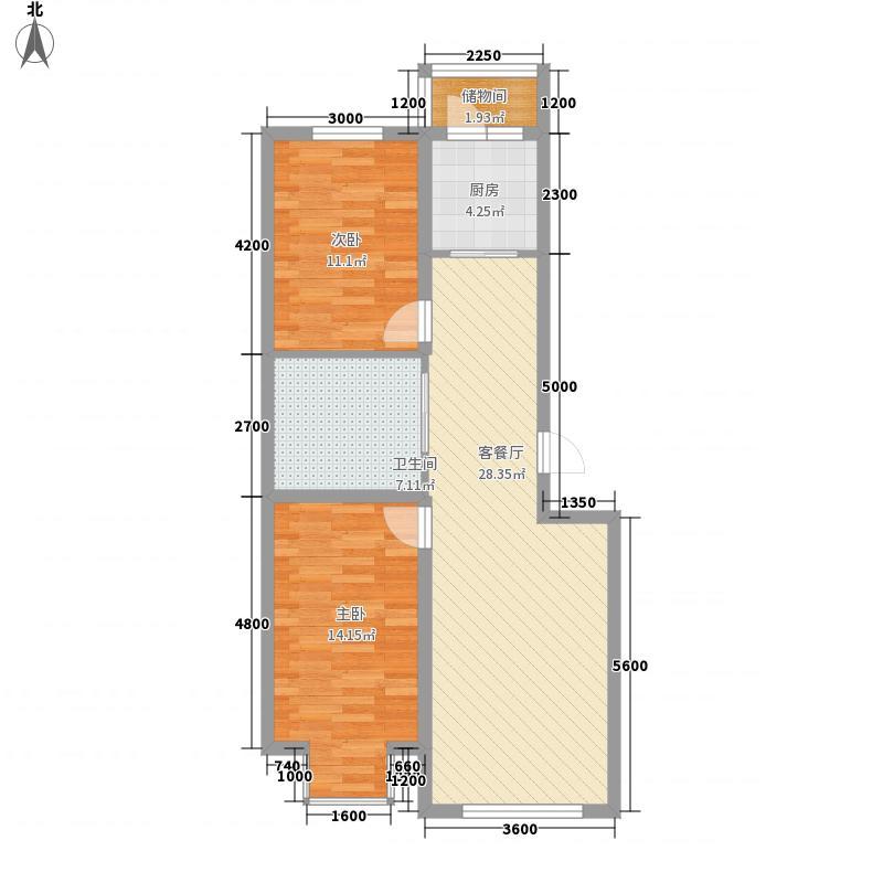 武夷嘉园91.55㎡武夷嘉园91.55㎡2室2厅1卫户型2室2厅1卫