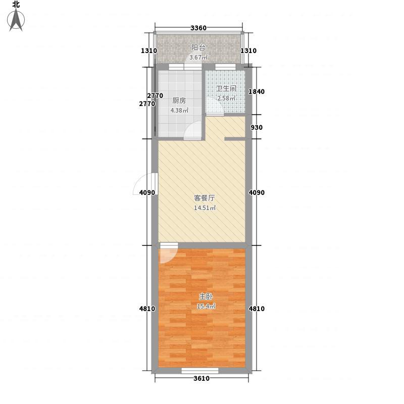 万和顺景54.81㎡万和顺景户型图1室1厅1卫户型10室