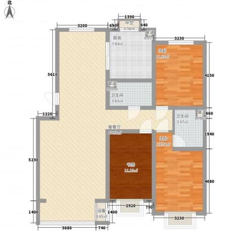 宽城3室1厅2卫1厨131.00㎡户型图