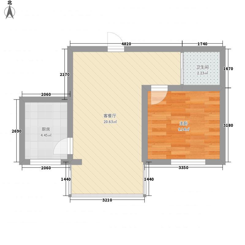 万和顺景51.18㎡万和顺景户型图1室1厅1卫户型10室