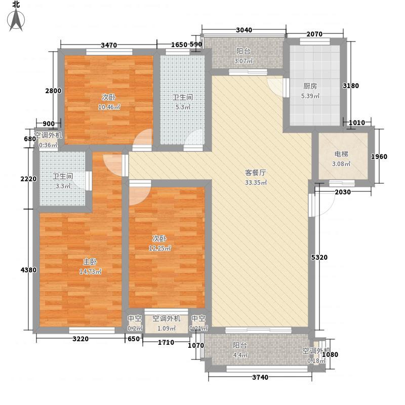 金水湾花园143.00㎡A户型3室2厅2卫1厨