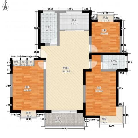 盛鑫金桥世家3室1厅2卫1厨139.00㎡户型图