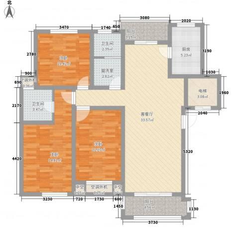 金水湾花园3室1厅2卫1厨143.00㎡户型图