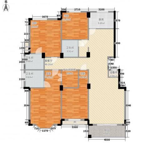 名仕花园4室1厅3卫1厨176.00㎡户型图