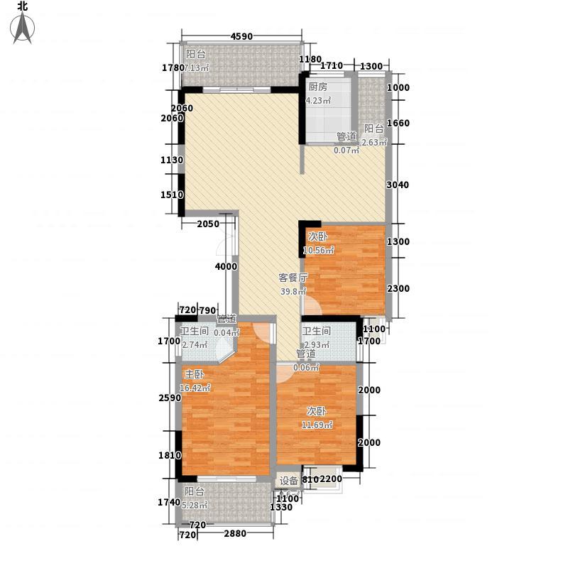 福晟钱隆御景户型图8#05、06单元 3室2厅2卫1厨