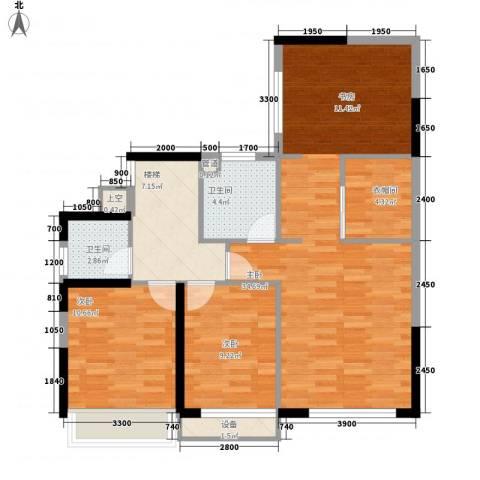 祥利上城3室0厅2卫0厨142.00㎡户型图