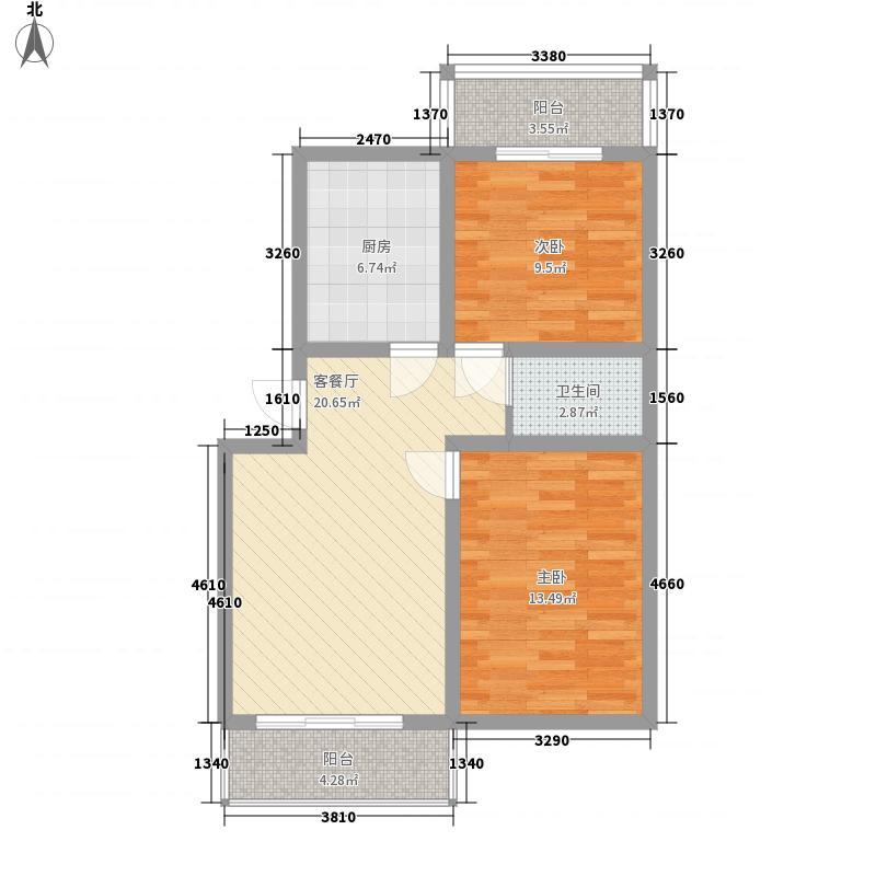益茂苑88.99㎡88.99户型2室2厅1卫1厨
