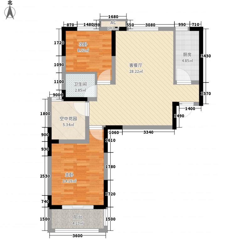 华盛格林丽景86.47㎡华盛格林丽景户型图J3户型2室2厅1卫1厨户型2室2厅1卫1厨