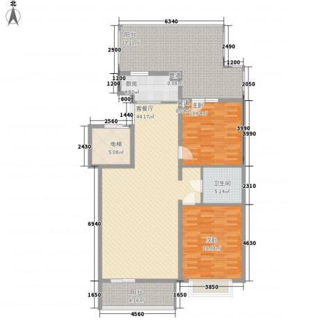 银谷美泉家园2室1厅1卫1厨165.00㎡户型图