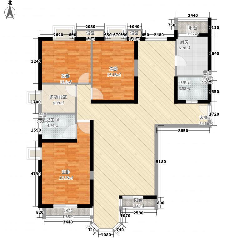 珠江罗马嘉园四期173.00㎡三期橄榄季鸢尾花语户型3室2厅2卫1厨