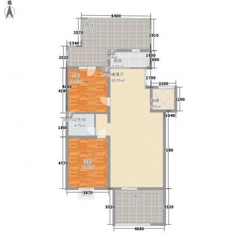 银谷美泉家园2室1厅1卫1厨184.00㎡户型图