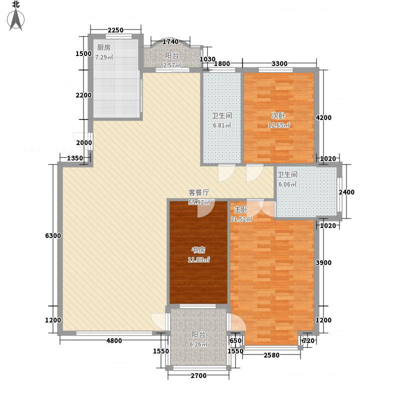 新星绿城二期145.00㎡新星绿城二期145.00㎡3室户型3室