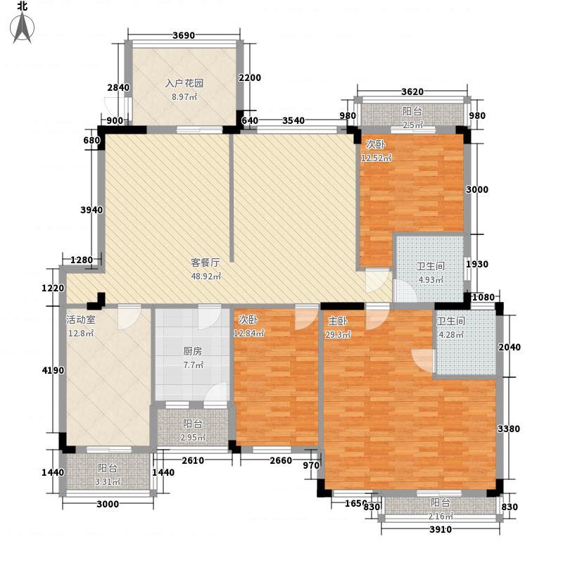 南国明珠二期181.12㎡c-2户型4室2厅2卫1厨