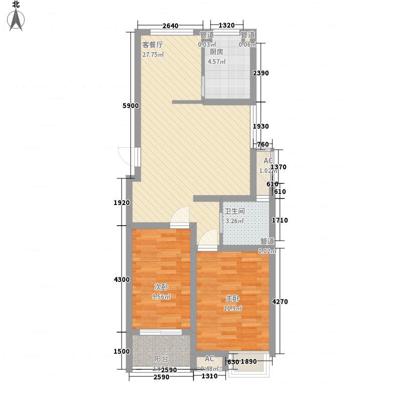 新四合院89.00㎡新四合院户型图B32室2厅1卫1厨户型2室2厅1卫1厨
