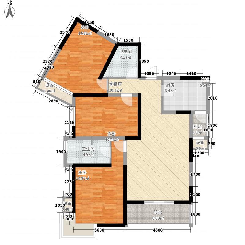 融侨馨苑136.00㎡户型3室