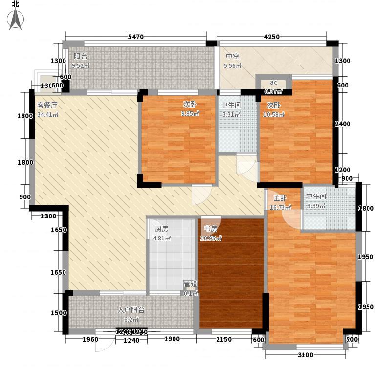 碧园香樟林132.00㎡16#A1、A2户型4室2厅2卫1厨
