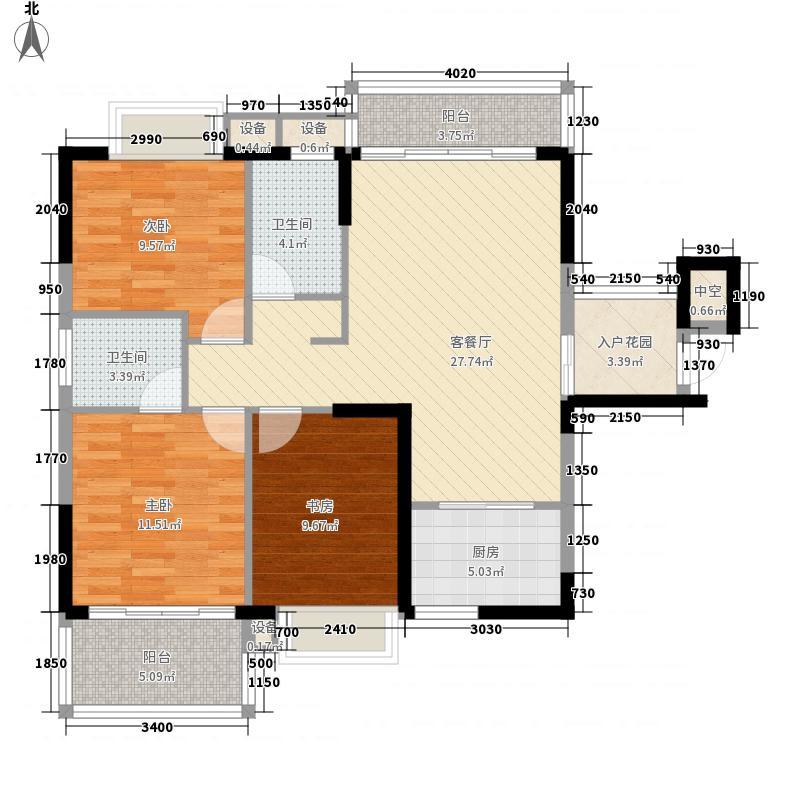 金山佳园115.00㎡金山佳园3室户型3室