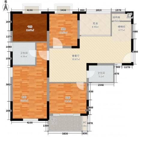 闽东国际城4室1厅2卫0厨180.00㎡户型图