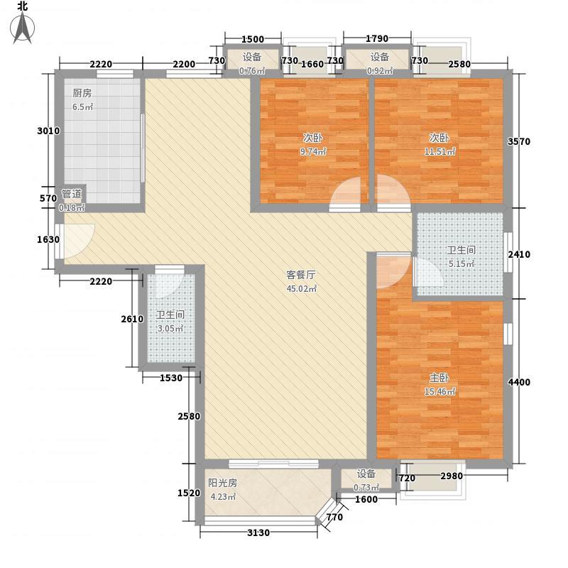 珠江罗马嘉园四期120.00㎡四期醇香意大利户型3室2厅2卫1厨