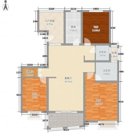 吉富绅花园3室1厅2卫1厨171.00㎡户型图