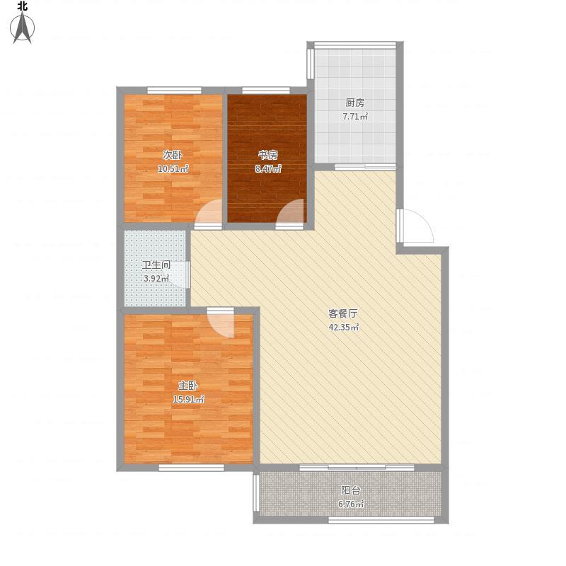 天成御景园3室2厅1厨1卫125.7m²