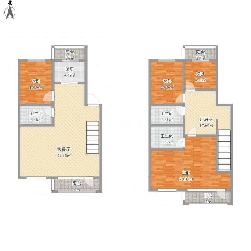 天成御景园4室3厅厨3卫199.2m²