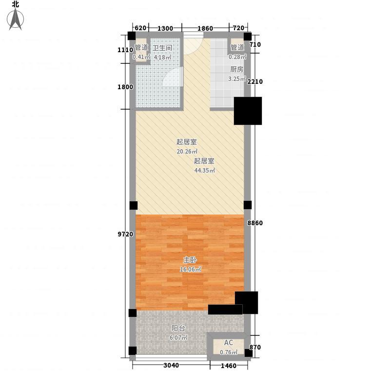 imore72.00㎡imore户型图D2户型1室1厅1卫1厨户型1室1厅1卫1厨