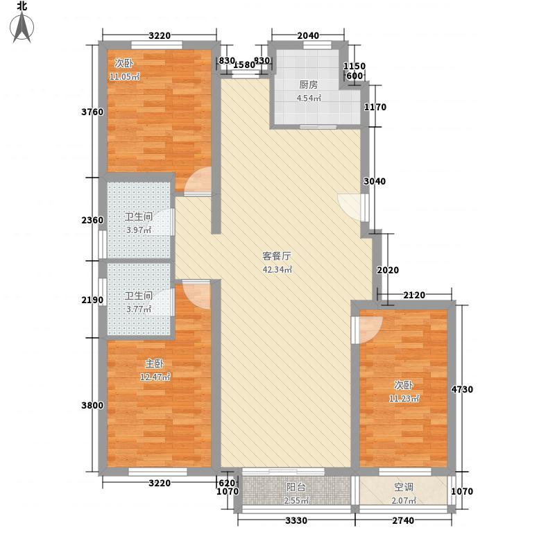 沿海智慧新城133.00㎡标准层G户型3室2厅2卫1厨