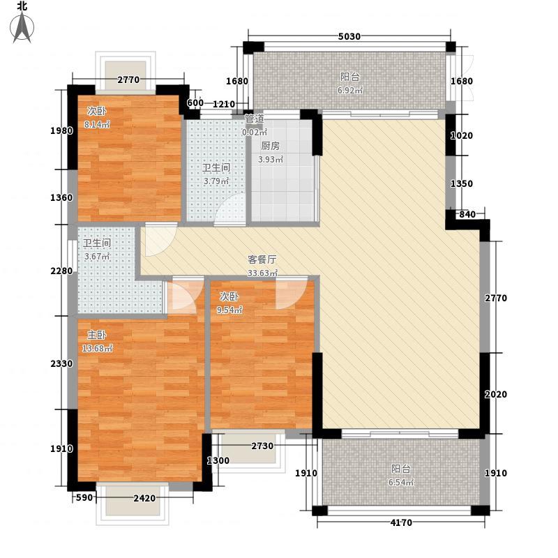 美林苑115.89㎡美林苑户型图A3户型图3室2厅2卫1厨户型3室2厅2卫1厨