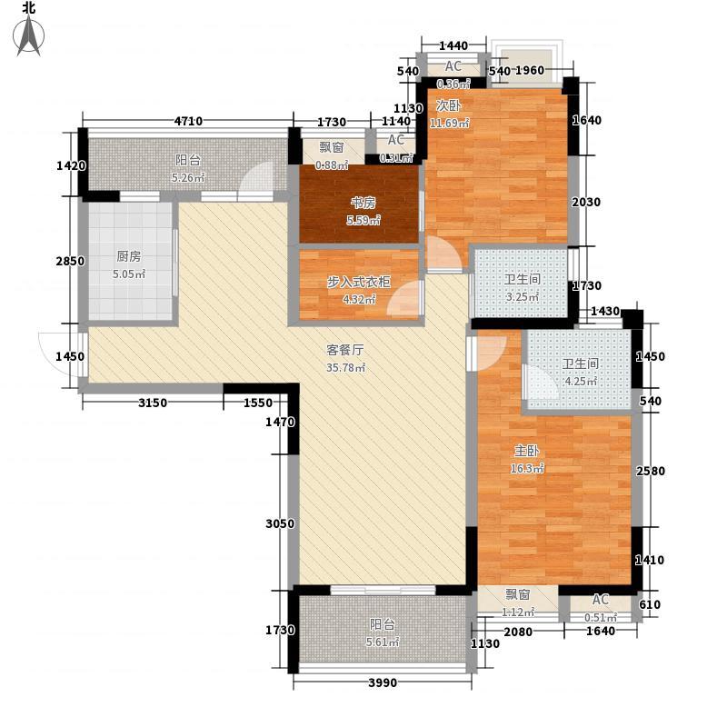 无锡滨湖万达广场142.00㎡无锡滨湖万达广场户型图C33室2厅2卫户型3室2厅2卫