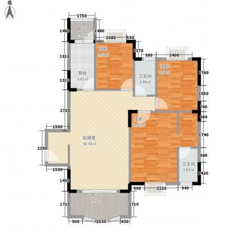 霞晖花园3室0厅2卫1厨116.00㎡户型图
