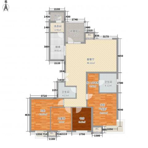 太原富力现代广场4室1厅2卫1厨178.00㎡户型图