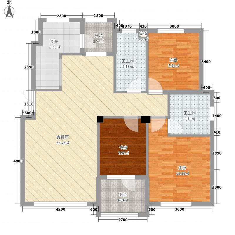 东特金星公馆东特金星公馆3室户型3室