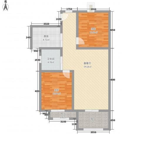 淮海新公馆2室1厅1卫1厨116.00㎡户型图