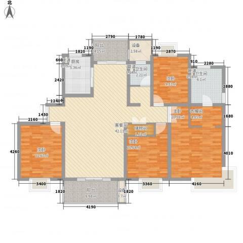 鹏欣一品漫城四期公寓4室1厅2卫1厨180.00㎡户型图